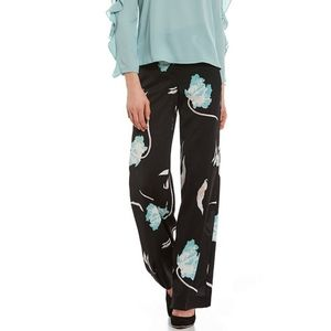 1. State Floral Print Flat Front Wide Leg Pants